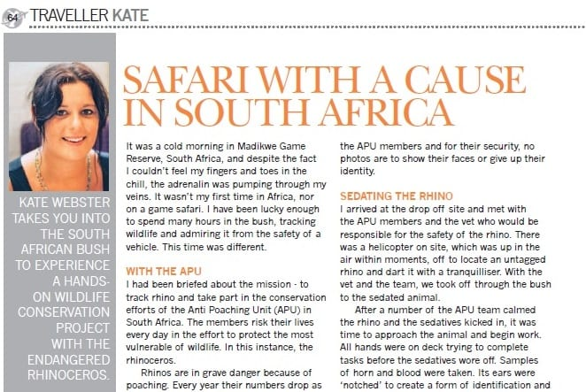 Safari with a cause in South Africa