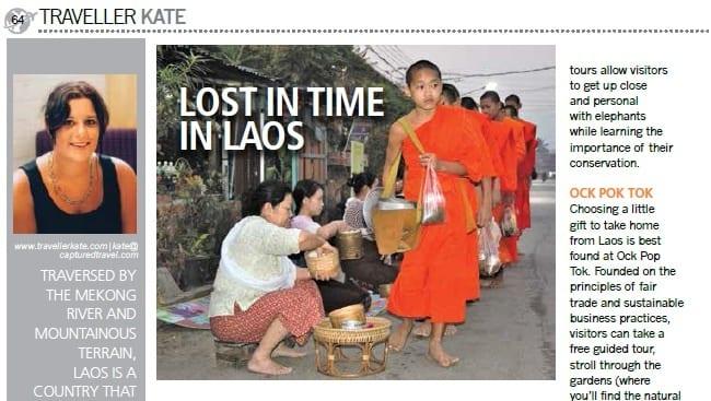 Travellerkate Laos Article